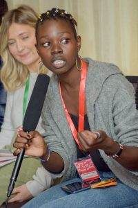 Evelyn, AfNHi youth cohort, strong advocate for women and girls